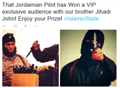 Jihadists Respond to ISs Capture of Downed Jordanian Pilot with.