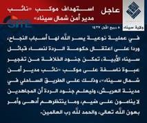 12 20 IS Claims Attack North Sinai Deputy Security Director Motorcade