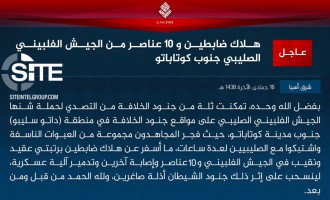 IS Claims Killing 12 from Philippine Army Forces South of Cotabato City