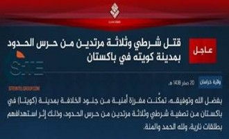 IS' Khorasan Province Claims Killing Policeman, Three Border Guards in Quetta
