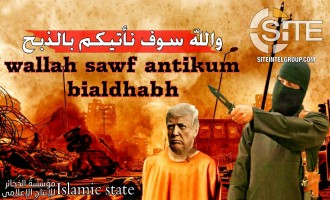 IS Supporters Design Posters Showing U.S. President Trump as Prisoner and Beheaded