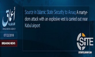 IS' 'Amaq Reports IS Killing 115+ in Suicide Operation near Kabul Airport