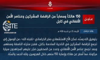 IS' Khorasan Province Issues Formal Communique for Bombings at Sports Club in Kabul