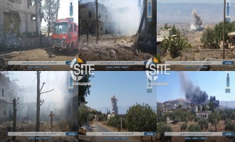 HTS' News Agency Reports on Russian Airstrikes in Western Idlib, Photographs and Records Destruction to Villages