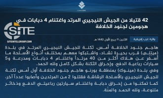 IS' West Africa Province Claims Killing 42 Nigerian Soldiers in Two Attacks in Borno