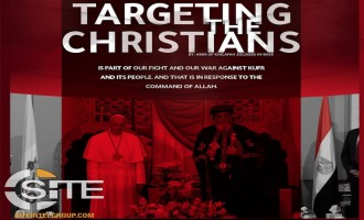 IS Linked Group Distributes Poster Threatening Christians, Depicting Roman Catholic & Coptic Popes