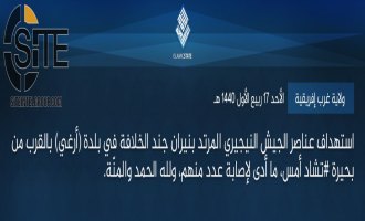 IS Claims Wounding Nigerian Forces Near Lake Chad