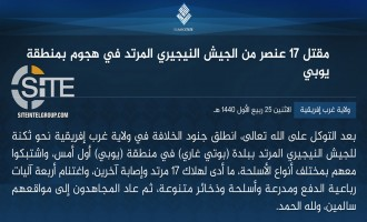 IS' West Africa Province Claims Killing 17 Nigerian Soldiers in Attack in Yobe