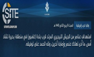 IS' West Africa Province Claims Strike on Nigerian Soldiers Near Gamboru