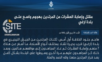 IS' West Africa Province Claims Taking Control Over Town in Borno, Killing 7 Soldiers and Wounding Dozens