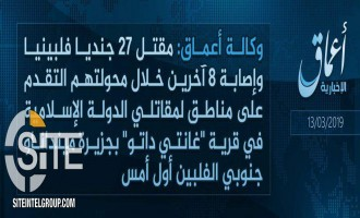 IS Claims Killing 27 Filipino Soldiers in Clashes in Mindanao