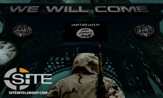 IS-linked Media Group Threatens Paris in Two Posters, Provides Design Tools for Supporters to Make Their Own Warnings
