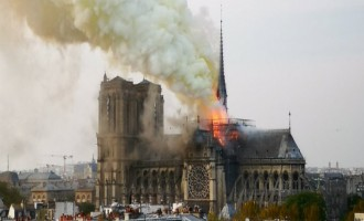 Jihadists Revel in Notre Dame Cathedral Fire