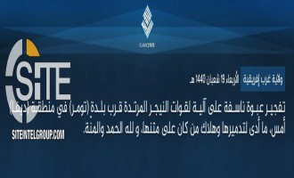 IS' West Africa Province Claims Bombing Nigerien Forces in Diffa, Repelling Nigerian Offensive in Yobe