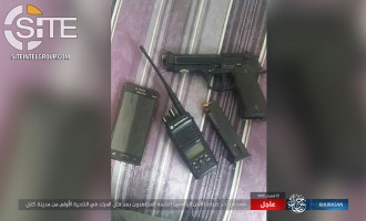 IS Claims Killing Presidential Security Officer in Kabul, Provides Photo of Captured Gun and Communications Devices