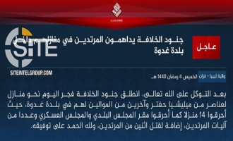 "IS Division in Libya Claims Raid on Houses of ""Apostates"" in Ghadduwa"