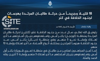 IS Claims Multiple Strikes on Afghan Taliban in Kunar, Inflicting 21 Casualties Total