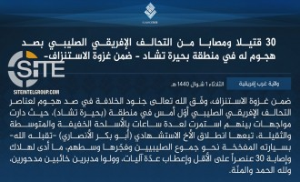 IS' West Africa Province Claims 30 Casualties Among MNJTF in Suicide Bombing, Clash in Lake Chad Area