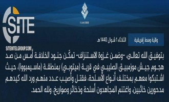 IS Claims 1st Attack in Mozambique, Deterring Offensive in Cabo Delgado Region
