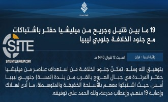 IS Claims at Least 19 Casualties Among LNA Troops in Continued Fighting in Southern Libya