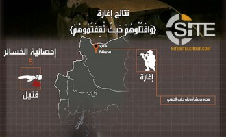AQ-aligned Jihadi Coalition Claims 5 Syrian Regime Forces Killed in Southern Aleppo Raid