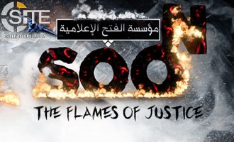 "IS-aligned Group Depicts Pope Tied to Cross on a Pyre to Threaten ""Flames of Justice"""