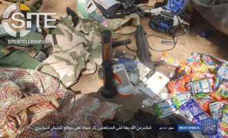 Boko Haram Attacks Nigerian Army Position Near Maiduguri, Shows Captured Clothing and Food Supplies