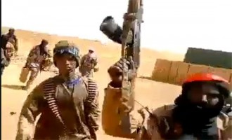 IS Supporter Shares Video of Aftermath of ISWAP Attack on Malian Army Base in Indelimane