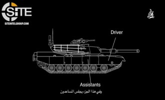 IS-aligned Group Identifies Weak Points in Abrams Tank in Video Infographic