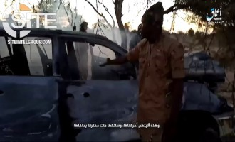 ISWAP Fighter Speaks in 'Amaq Video on Ambush Hitting Nigerian Army Vehicle in Borno