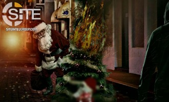Depicting Santa Claus Stabbed and a Christmas Tree Ablaze, Pro-IS Group Threatens Attacks in West