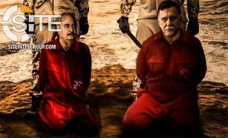 Threatening War to Come in Libya, Pro-IS Group Depicts Khalifa Haftar and Fayez al-Sarraj as Prisoners