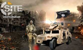 Pro-IS Group Depicts Trump's Severed Head Beneath Foot of Fighter in Challenge to U.S.