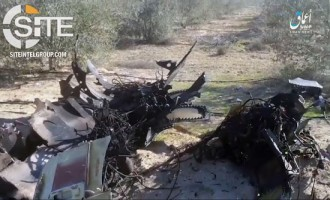'Amaq Video Shows Wreckage of Egyptian Fighter Jet in Rafah, Claims Crash Took Place While Bombing Muslims