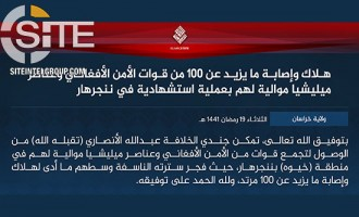 IS Claims 100 Casualties in Suicide Bombing at Funeral in Nangarhar