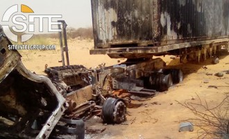 JNIM Publishes Photo of Aid Trucks Torched by Fighters in Mali