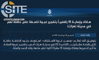 ISKP Claims Credit for Bomb Blast on Bus in Herat