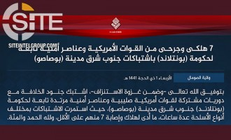 "In 4th Wave of ""Battle of Attrition,"" IS Claims Inflicting 7 Casualties Among U.S. and Somali Forces Near Bosaso"