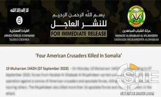 "In Formal Claim for Suicide Bombing on U.S.-Somali Patrol, Shabaab Vows to Concentrate Ops on ""American Crusaders"""