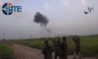 IS-linked 'Amaq News Agency Video Shows Fighters Shooting at Syrian Pilot as He Parachutes in Aleppo