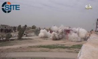 "IS Video Shows Fighters Blowing Up Houses of ""Apostates"" in Kirkuk"