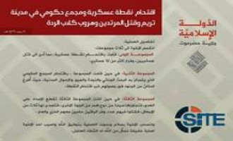 IS Division in Hadramawt Claims Raid on Military Checkpoint, Government Complex