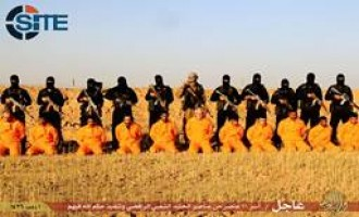 IS Publishes Photo Report on Executing 11 Popular Mobilization Members in Salah al-Din