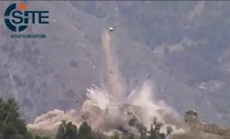 Afghan Taliban Online Representative Gives Video of Blowing Up Afghan Helicopter in Kunar
