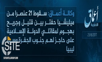 IS Claims First Attack in Libya in 3 Months, Killing and Wounding 21 Soldiers in Jufra