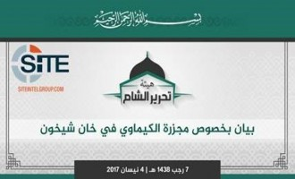 "Tahrir al-Sham Condemns Sarin Gas Attack in Idlib, Vows for ""More Bitter"" Response"