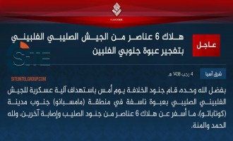 IS Claims Killing 6 Filipino Soldiers in Bomb Blast in Mamasapan
