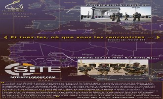 Pro-AQ French Media Unit Calls for Lone-Wolf Attacks in Paris and Timbuktu