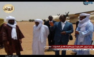 Azawad News Agency Releases Pictures from Burkina Faso Minister's Visit