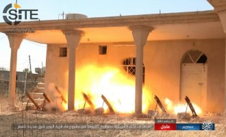 IS Publishes Photos of Firing Rockets at U.S. Base East of Tal Afar